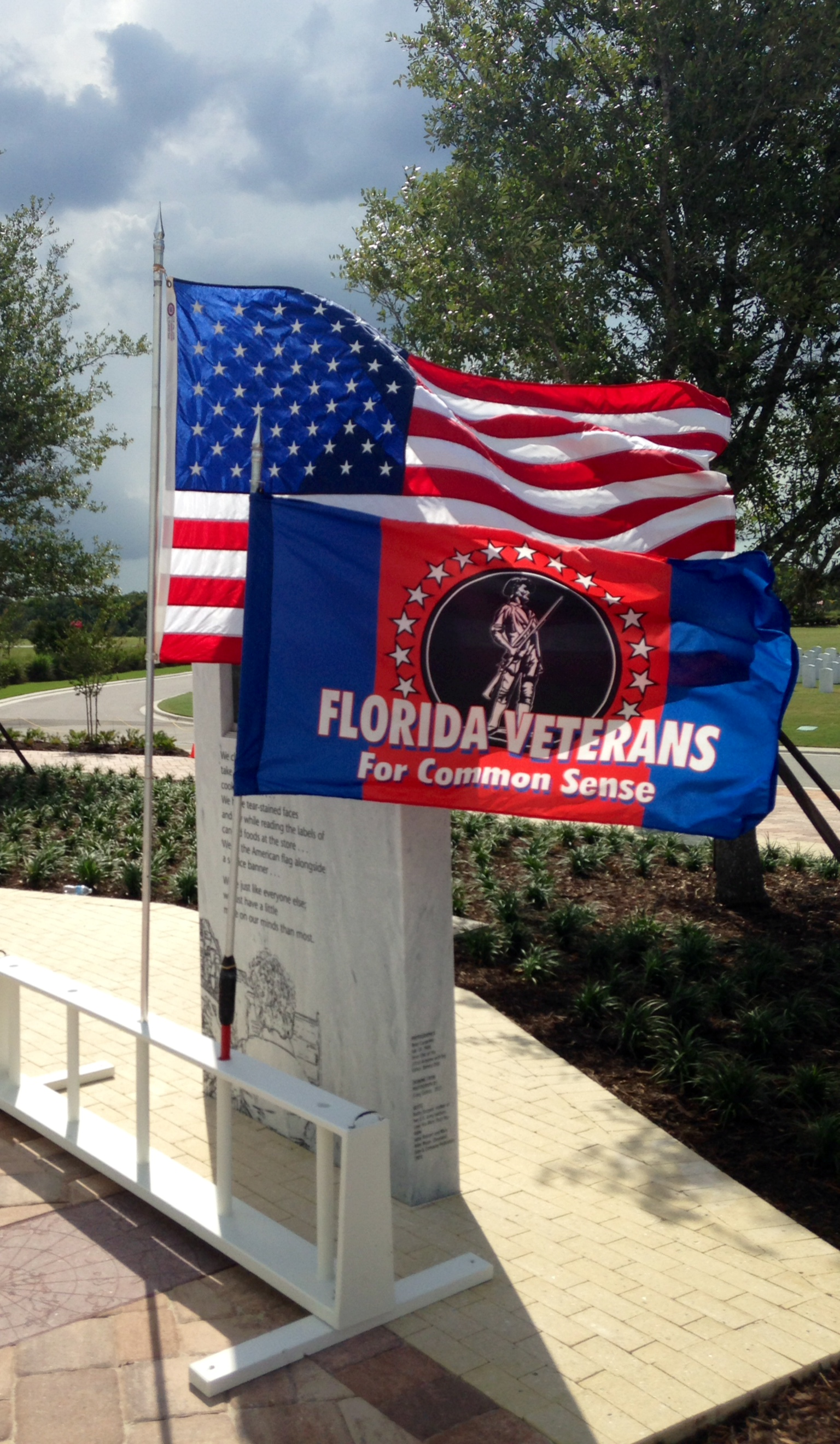 FLVCS Colors Displayed at the Dedication of the National Cemetery in Sarasota